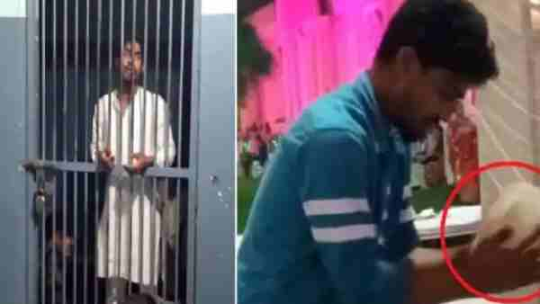 Suhail spitting on tandoori roti while cooking in a marriage party, video viral police arrested the accused
