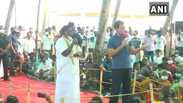 पुडुचेरी के दौरे पर पहुंचे राहुल गांधी, मछुआरों से बोले- कृषि कानूनों से हर किसी को नुकसान