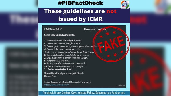 Fact check Has ICMR issued new protocols of covid-19