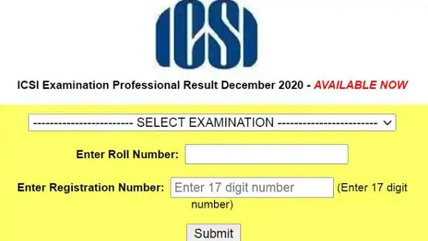 ICSI CS result declared