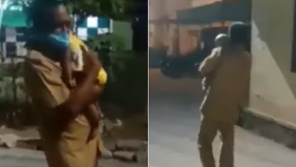 हादसे में घायल माता-पिता के साथ अस्पताल आई 7 माह की बच्ची, गार्ड ने किया दिल जीतने वाला काम, वीडियो