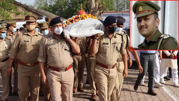 आगरा: पुलिस लाइन में अधिकारियों ने शहीद प्रशांत यादव को दी अंतिम विदाई, हत्यारोपी पर लगाया गया NSA