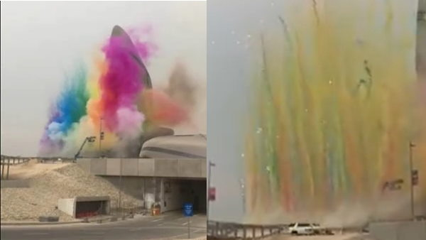 Fact check Did colorful fireworks Holi celebration at Atal Tunnel Saudi Arabia