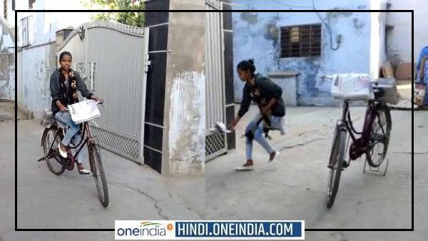 खुशबू सेन : हादसे में पिता का पैर टूटा तो 17 साल की बेटी बनी हॉकर, अखबार बांटकर जाती है स्कूल, VIDEO