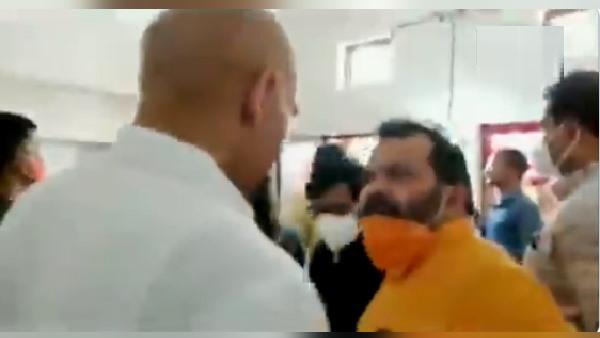 मध्य प्रदेश: मुरैना भाजपाध्यक्ष और ज्योतिरादित्य सिंधिया के सहयोगी नेता में कार्यकर्ता के घर झगड़ा- VIDEO