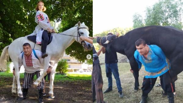 OMG! इस शख्स में है 'भीम' जैसी ताकत, घोड़े और भैंस को कंधे पर उठाकर लगाता है दौड़, देखें Video