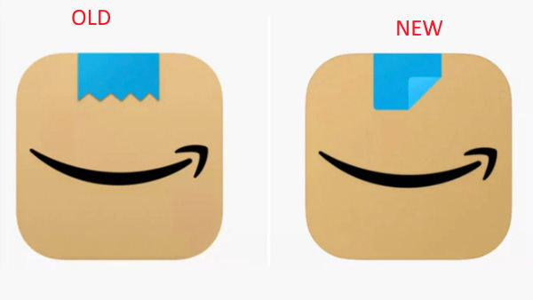 E commerce Amazon changes its app icon after Adolf Hitler Moustache comparison