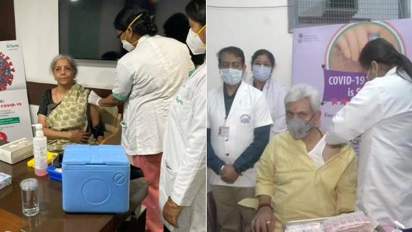 कोरोना टीकाकरण का चौथा दिन: सीतारमण, मनमोहन सिंह, अनिल बैजल समेत इन नेताओं को दी गई वैक्सीन