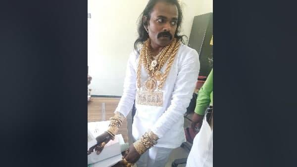 कई किलो सोना पहनकर तमिलनाडु विधानसभा चुनाव में नामांकन दाखिल करने पहुंचा प्रत्याशी,ज्वैलरी देख लोग हुए दंग