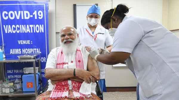 पीएम नरेंद्र मोदी ने लगवाया कोरोना का टीका, जानें लोगों ने क्या दिया रिएक्शन