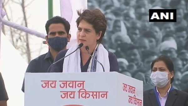 priyanka gandhi in meerut kisan mahapanchayat says This government is running for industrialists