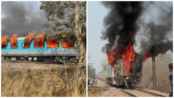 धूं-धूं कर जला दिल्ली-देहरादून शताब्दी एक्सप्रेस का कोच, वीडियो और तस्वीरों में देखें, कैसे टला ये हादसा
