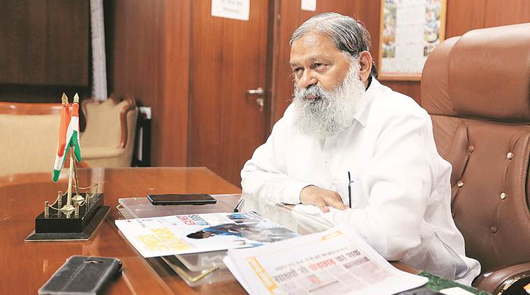 Health Minister Anil Vij says that most of the covid patients in Haryana are from the adjoining districts of Delhi