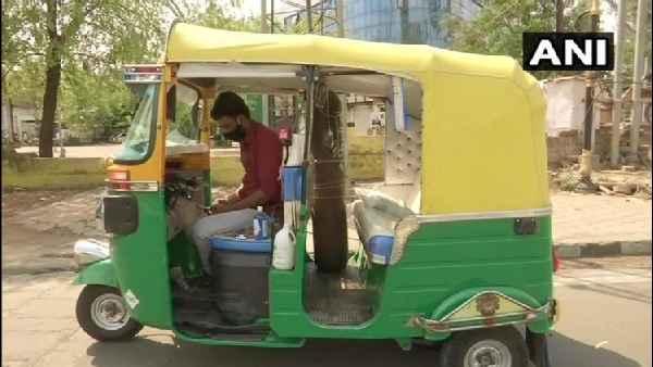 इंसानियत: जावेद खान ने पत्नी के गहने बेच कर ऑटो को बनाया एंबुलेंस, कोरोना मरीजों की कर रहे फ्री सेवा
