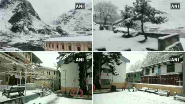 Uttarakhand: Badrinath Dham, Ghangaria, and Mana villages in Chamoli district have been receiving snowfall