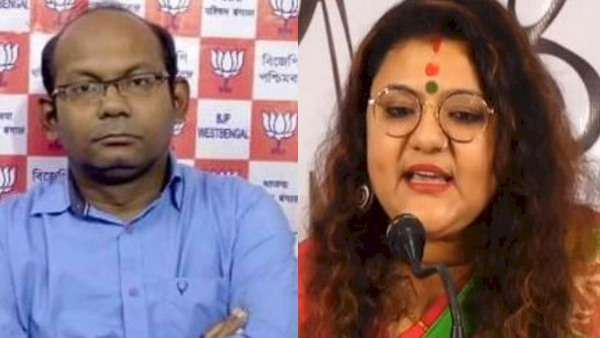 West Bengal 24-hour ban on BJP Sayantan Basu and TMC leader Sujatha Mandal