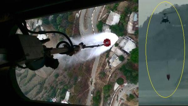 VIDEO: वायुसेना का हेलीकॉप्टर उत्तराखंड के जंगल पहुंचा, 5000 लीटर पानी वाली बाल्टी से बुझा रहा आग