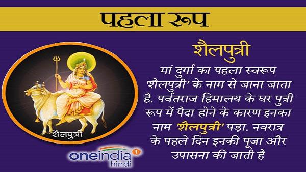 यह पढ़ें: Chaitra Navratri 2021: पहले दिन होती है मां 'शैलपुत्री' की पूजा