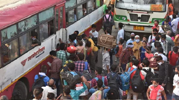 दिल्ली से यूपी वालों को घर पहुंचाने के लिए योगी सरकार ने किया बसों का इंतजाम, 1 लाख लोग निकलेंगे