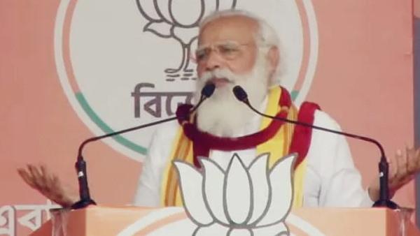बंगाल चुनाव: ये तो हद है ! PM की सभा में उड़ी सोशल डिस्टेंसिंग की धज्जियां