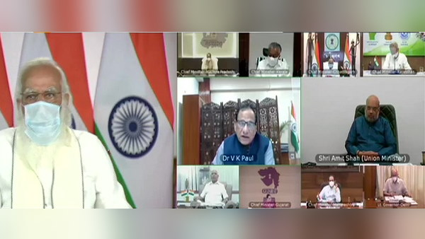 PM Modi meeting with Chief Ministers of high burden states, over the prevailing COVID 19 situation
