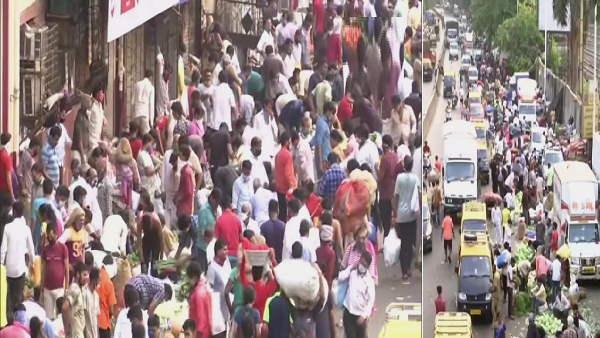 मुंबई में एक दिन में मिले 10 हजार से ज्यादा नए कोरोना मरीज, फिर भी मंडियों में उमड़ा ऐसा हुजूम
