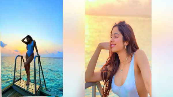 Janhvi Kapoor having fun in Maldives