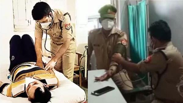 पिता के कहने पर किया था MBBS, फिर बने पुलिस अधिकारी, अब कर रहे कोरोना मरीजों का इलाज