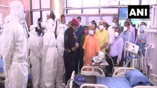 सीएम योगी ने लखनऊ में DRDO के कोविड अस्पताल का किया उद्घाटन, 505 बेड शुरू