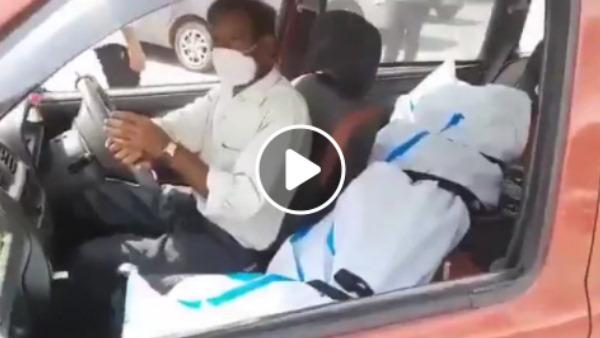Kota Video : एम्बुलेंस वालों ने 35 हजार रुपए मांगे तो कार में सीट बैल्ट से बांधकर बेटी का शव ले गए पिता