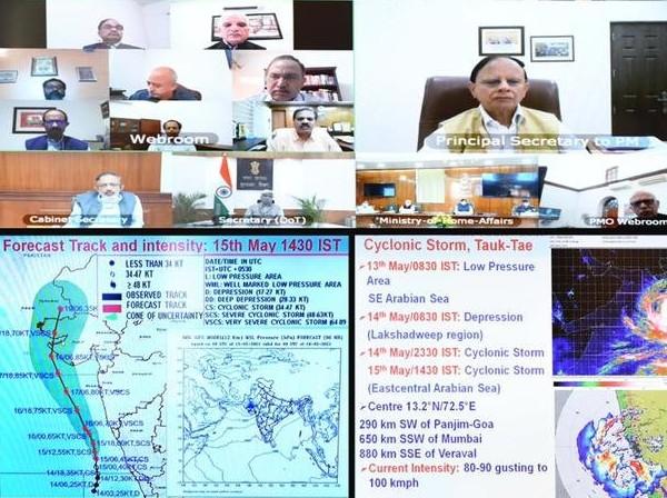 साइक्लोन 'तौकते' से निपटने की तैयारियों को लेकर पीएम मोदी ने की हाईलेवल मीटिंग