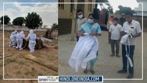 SIKAR : 5 घंटे तक कोई मददगार नहीं आया तो तहसीलदार रजनी यादव ने किया महिला का अंतिम संस्कार