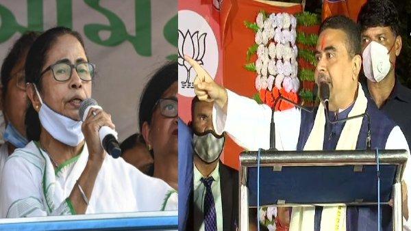 Nandigram Assembly Election Result 2021:शुरुआती रुझानों में सुवेंदु अधिकारी से पिछड़ीं ममता बनर्जी