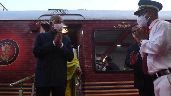 कानपुर में राष्ट्रपति कोविंद, झींझक स्टेशन पर अपनी सैलरी को लेकर कही ये बात