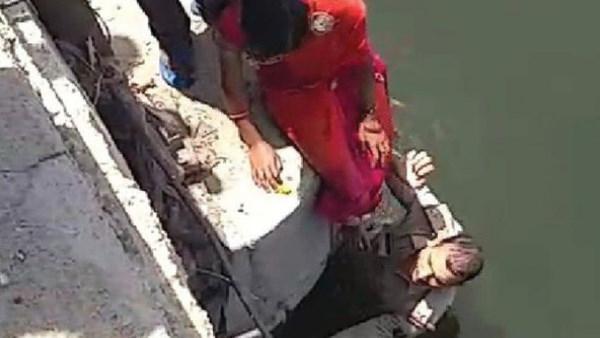 कोटा पुलिस के एएसआई ने महिला की जान बचाने के लिए नहर में लगाई 20 फीट की छलांग