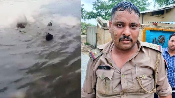 Aligarh SI Ashish Kumar: अलीगढ़ में दरोगा आशीष कुमार ने जान की बाजी लगाकर यूं बचाई शख्स की जान