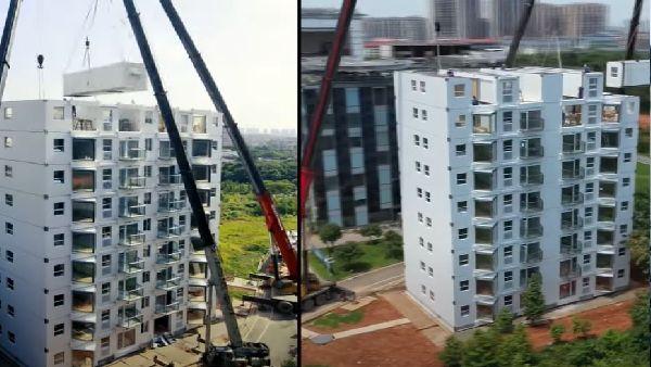 चीन का कमाल, महज 28 घंटे 45 मिनट में बना डाली आलीशान 10 मंजिला बिल्डिंग, देखें Video