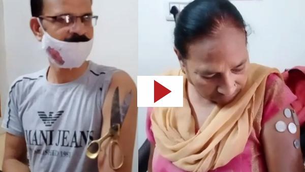 कोटा में कोरोना वैक्सीन लगवाने के बाद शरीर से चिपकने लगे लोहे के सामान, देखें वायरल वीडियो