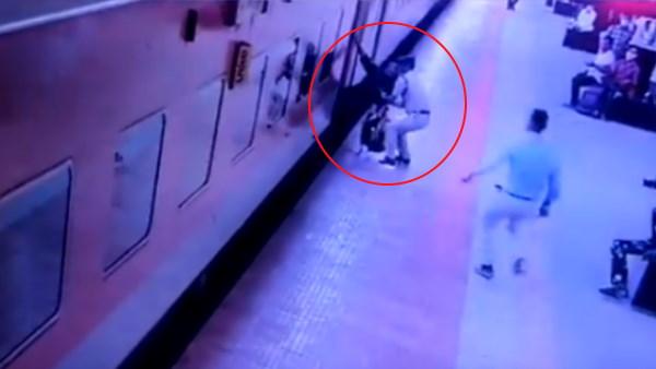 VIDEO: महिला को मौत के मुंह से यूं खींच लाया RPF जवान, रेल मंत्रालय ने शेयर किया वीडियो