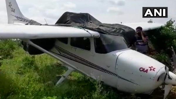 मध्य प्रदेश: सागर में हवाई पट्टी के पास ट्रेनी विमान हुआ क्रैश, महिला पायलट सुरक्षित