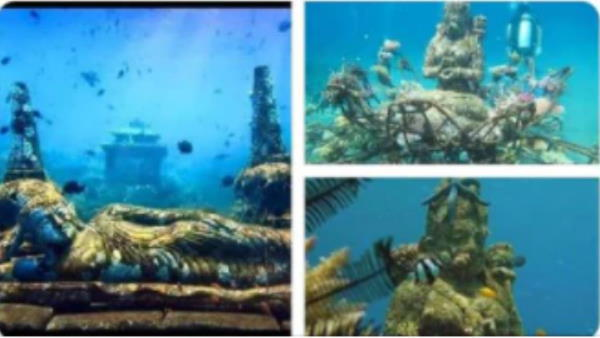 Fact Check: क्या इंडोनेशिया के समुद्र में मिली हैं देवी-देवताओं की 5000 साल पुरानी मूर्तियां?
