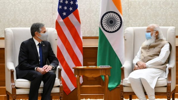 अमेरिकी विदेश मंत्री एंटनी ब्लिंकन ने पीएम मोदी से की मुलाकात