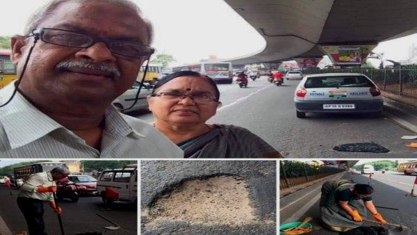 Gangadhar Tilak Katnam : मिलिए हैदराबाद के रोड डॉक्टर से, पेंशन के पैसों से भरते हैं सड़कों के गड्ढे