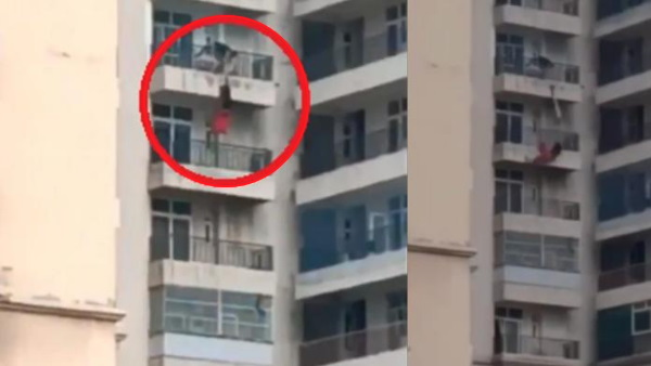 गाजियाबाद: पत्नी ने 9वीं मंजिल से लगाई छलांग, फिल्मी स्टाइल में पति ने पकड़ा हाथ, लेकिन...