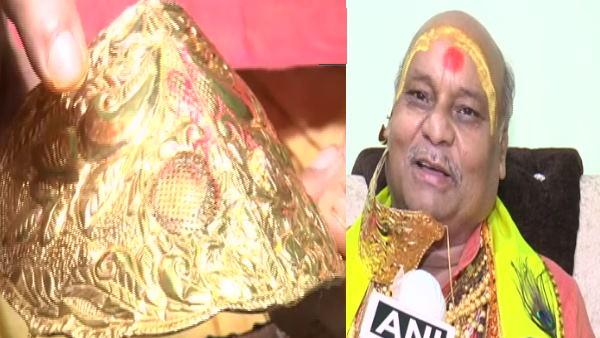सोने का मास्क: 5 लाख रुपए कीमत, जानिए यूपी के बप्पी लहरी के इस मास्क की खासियत