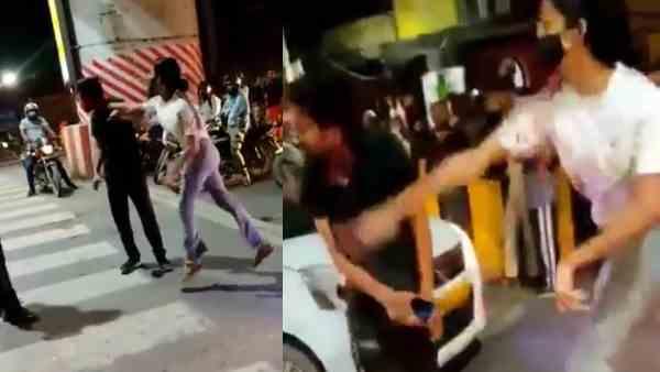 VIDEO: बीच सड़क पर युवती ने किया हाई-वोल्टेज ड्रामा, ड्राइवर को गाड़ी से निकालकर जड़े तमाचे पे तमाचे