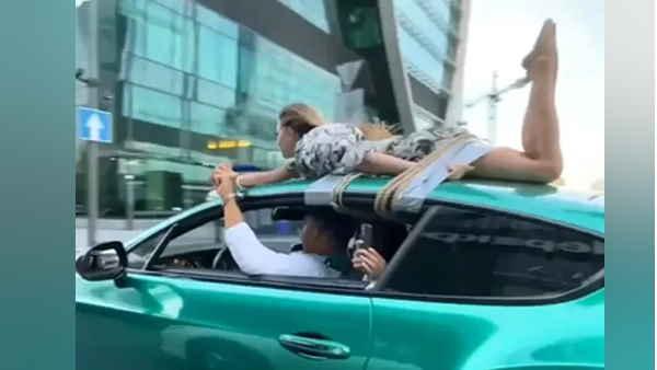 शख्स ने गलफ्रैंड को कार की छत पर बांधकर घुमाया पूरा शहर, भुगतना पड़ा ये अंजाम