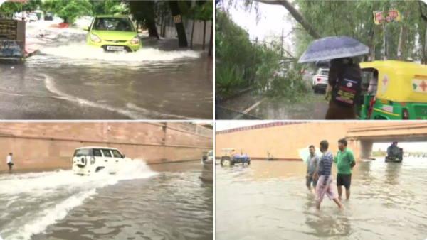 <br/><strong>लखनऊ में भारी बारिश, कई मंत्रियों के घरों में भरा पानी, अलर्ट पर प्रशासन, कहा- घरों से ना निकलें</strong>