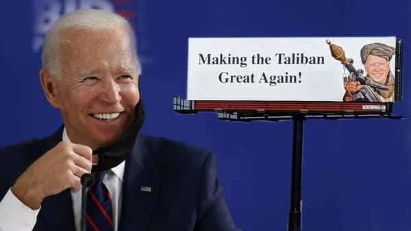 ये भी पढ़ें- तालिबान की वापसी पर अमेरिका में भड़के लोग, जो बाइडेन के 'आतंकी भेष' में लगे पोस्टर्स