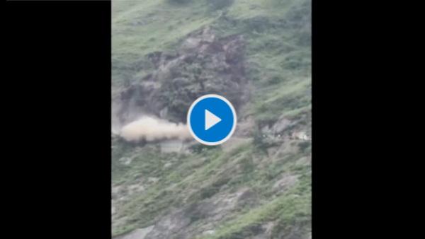 हिमाचल में पहाड़ ढहा, राजधानी शिमला के पास NH-5 तबाह, मोटी-मोटी शिलाएं नीचे गिरीं- VIDEO